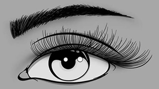 Graphic Design Illustration of Classic Eyelash Extensions by Ryan for Glow Lash & Brow Bar Saltash & Plymouth