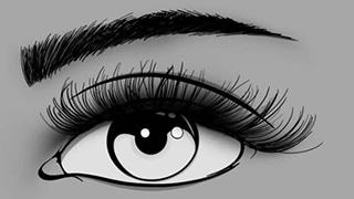 Graphic Design Illustration of Hybrid Eyelash Extensions by Ryan for Glow Lash & Brow Bar Saltash & Plymouth