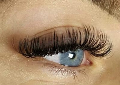 Beautiful Blue Eyes Russian Volume Eyelash Extensions by Charlett Lyne at Glow Lash & Brow Bar Saltash & Plymouth