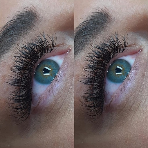 Cashmere V Russian Eyelash Extensions by Charlett Lyne at Glow Lash & Brow Bar Saltash & Plymouth