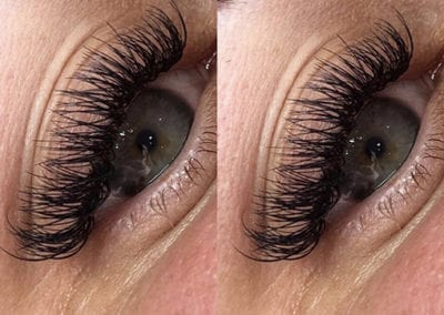 Dramatic Hybrid Eyelash Extensions by Morgan Brady at Glow Lash & Brow Bar Saltash & Plymouth