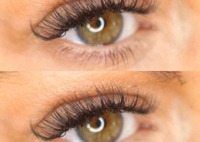 Thick Hybrid Eyelash Extensions by Morgan Brady at Glow Lash & Brow Bar Saltash & Plymouth