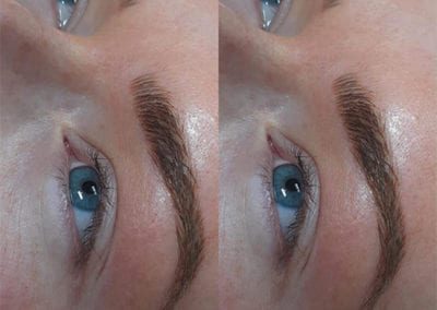 Natural Thick & Defined Microblading by Expert Microblading Technician Charlett Lyne at Glow Lash & Brow Bar, Saltash & Plymouth