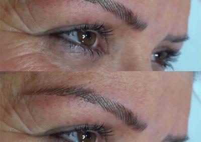 Beautiful Microbladed Eyebrows by Microblading Technician Charlett Lyne Glow Lash & Brow Bar, Saltash & Plymouth