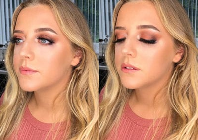 Peach and Pink Makeup by Glow Saltash and Plymouth