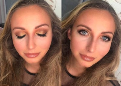 Golds and Brows for the ball Makeup by Glow in Saltash and Plymouth