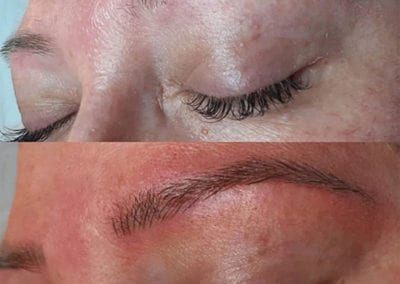 Before and After of Microbladed Eyebrows by Microblading Technician Charlett Lyne Glow Lash & Brow Bar Saltash & Plymouth