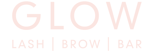 Glow logo for Lash, Brow and bar